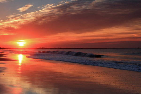 Wall Art - Photograph - Cape May Nj Sunrise The Next Morning After The Storm by Geraldine Scull