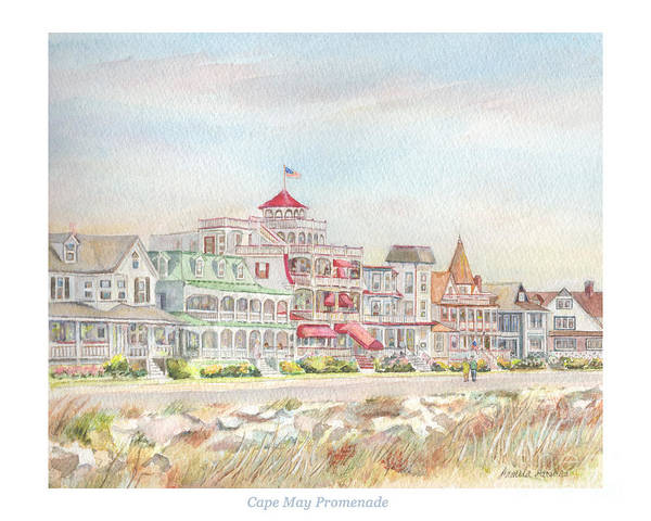 Cape May Painting - Cape May Promenade, Jersey Shore by Pamela Parsons