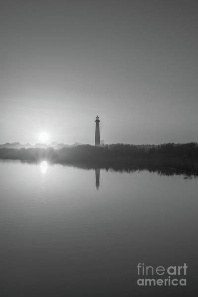 Cape May Lighthouse Photograph - Cape May Reflections Bw by Michael Ver Sprill
