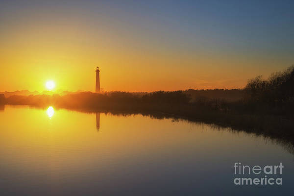 Cape May Lighthouse Photograph - Cape May Sunset Reflections by Michael Ver Sprill