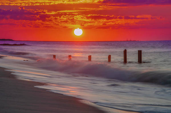 Photograph - Cape May Surf And Sunrise by Bill Cannon