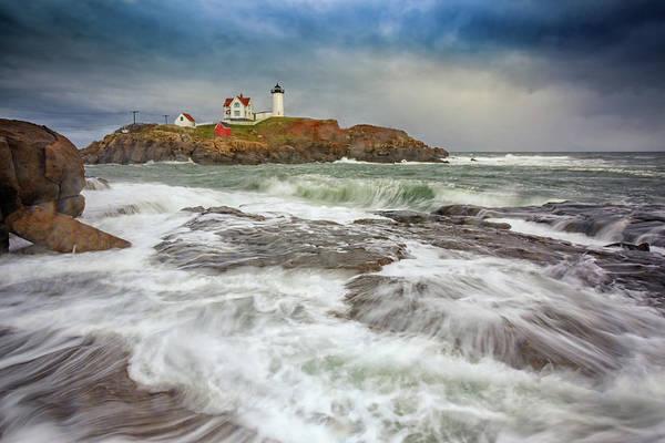 Seacoast Photograph - Cape Neddick Storm by Rick Berk