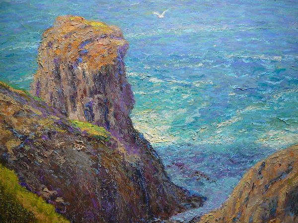 Nz.impressionist Painting - Cape Saunders by Terry Perham