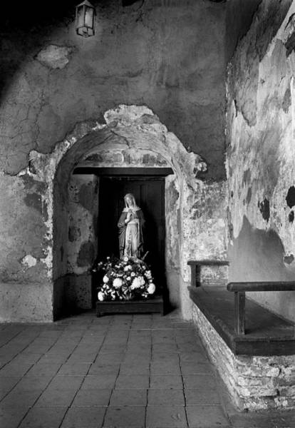 Photograph - Capistrano Mission Statue by Paul W Faust - Impressions of Light