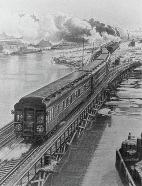 Ohio River Drawing - Capital Limited by Brad Brailsford