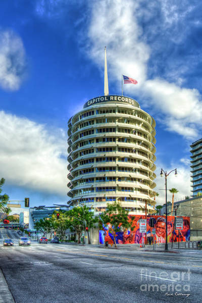 Photograph - Capital Records Tower Hollywood Landmark Building Los Angeles California Art by Reid Callaway
