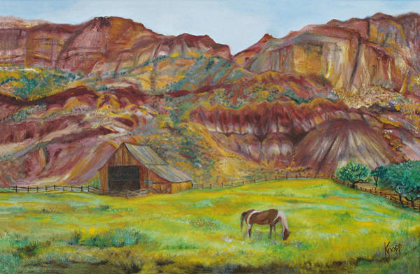 Painting - Capital Reef Pasture by Kathy Knopp