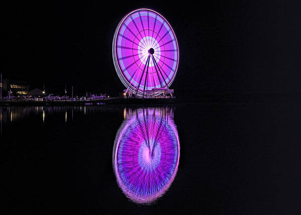 Photograph - Capital Wheel At National Harbor by Bill Dodsworth