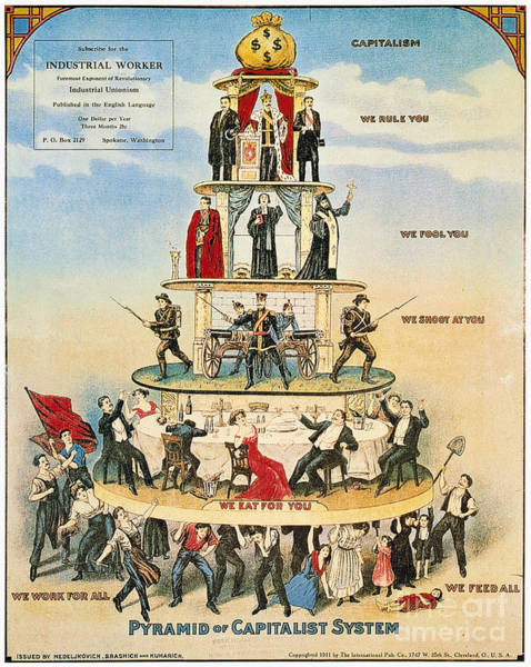 Capitalism Wall Art - Photograph - Capitalist Pyramid, 1911 - To License For Professional Use Visit Granger.com by Granger