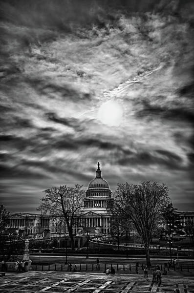 Photograph - Capitol Building From The Steps Of Supreme Court Building by Val Black Russian Tourchin