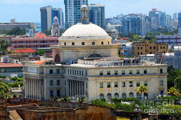 Photograph - Capitol Building In Old San Juan by Steven Spak