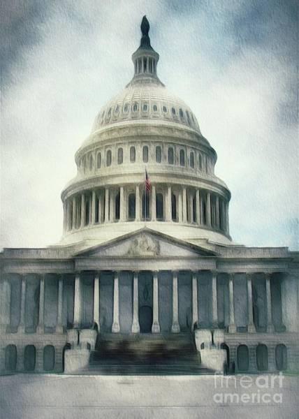 Capitol Painting - Capitol Building, Washington by Sarah Kirk