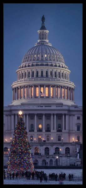 Wall Art - Photograph - Capitol Christmas 2017 by Robert Fawcett
