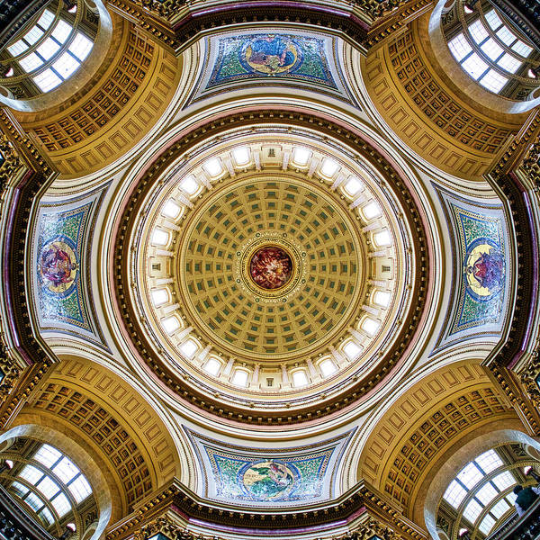 Photograph - Capitol - Dome 2- Madison - Wisconsin by Steven Ralser