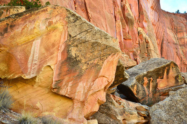 Photograph - Capitol Gorge Rock Art by Ray Mathis