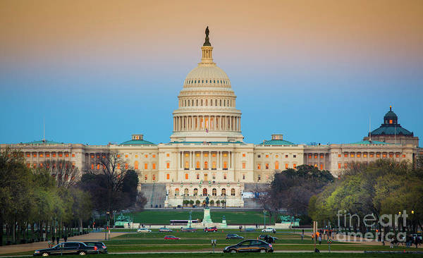 Capitol Photograph - Capitol Hill by Inge Johnsson