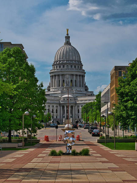 Photograph - Capitol - Madison With Bucky by Steven Ralser