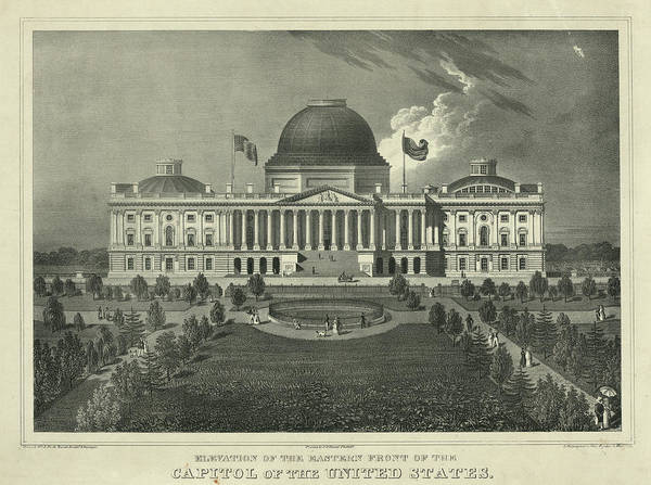 Wall Art - Painting - Capitol Of The Unites States by 19th Century