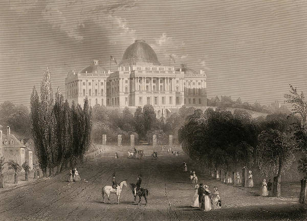 Wall Art - Painting - Capitol Of The Unites States, Washington  by 19th Century