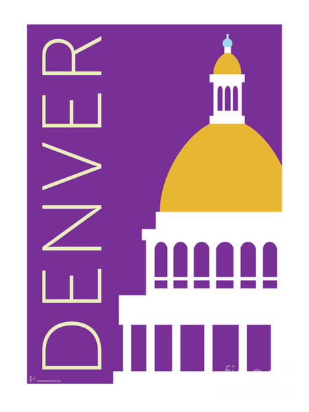 Digital Art - Denver Capitol/purple by Sam Brennan