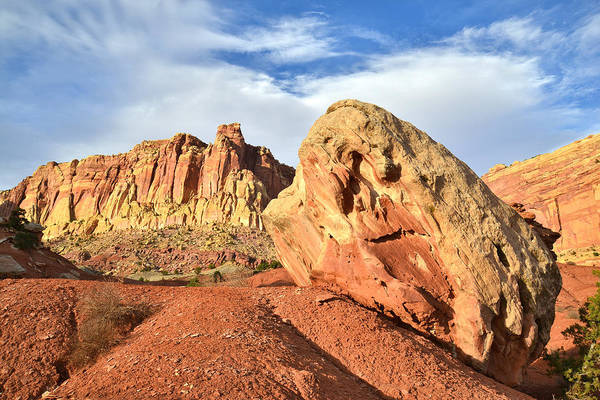 Photograph - Capitol Reef Boulder by Ray Mathis