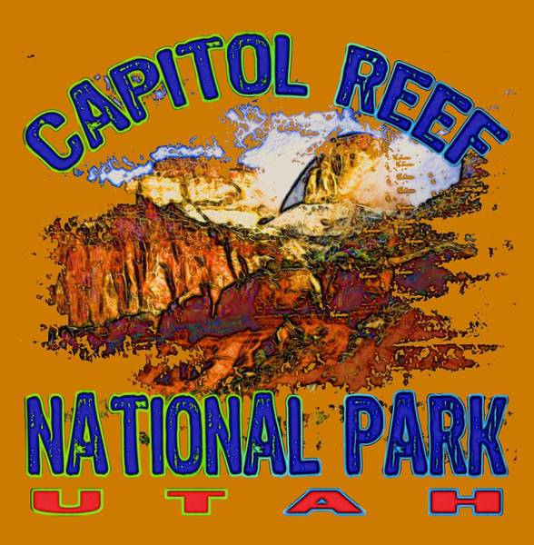 Wall Art - Digital Art - Capitol Reef National Park Utah by David G Paul