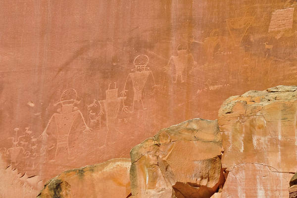 Photograph - Capitol Reef Petroglyphs by Kyle Hanson