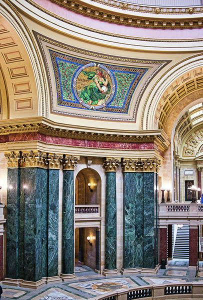 Photograph - Capitol Rotunda -madison - Wisconsin by Steven Ralser