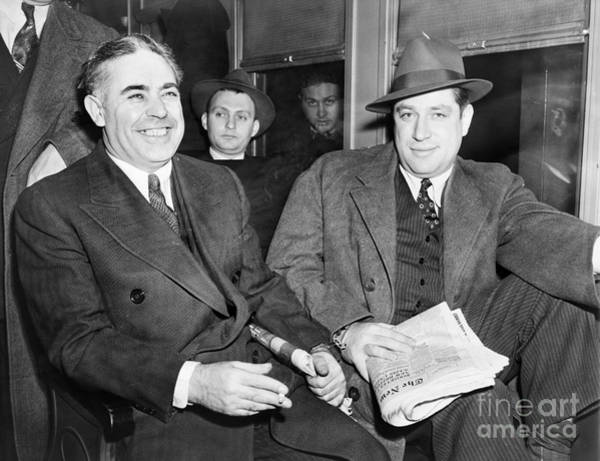 Photograph - Capone And Weiss, 1941 by Granger