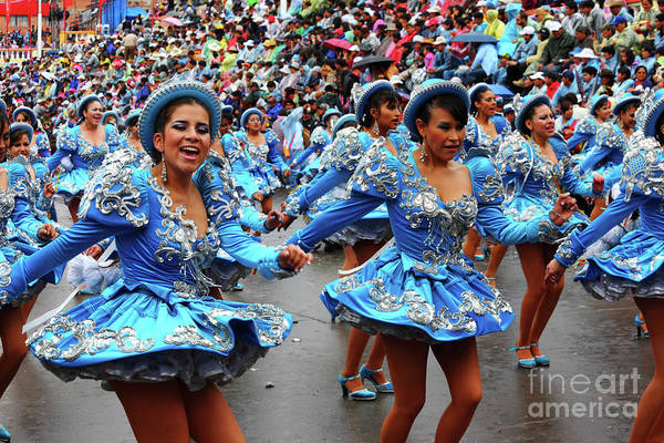 Photograph - Caporales Dancers At Oruro Carnival Bolivia by James Brunker