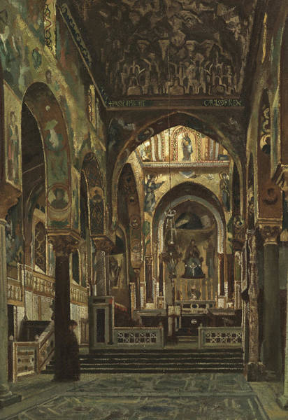 Wall Art - Painting - Cappella Palatina, Palermo  by Frederic Leighton