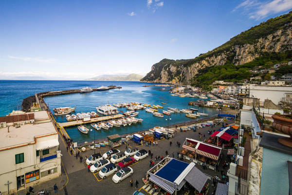 Photograph - Capri Harbor by Mike Evangelist