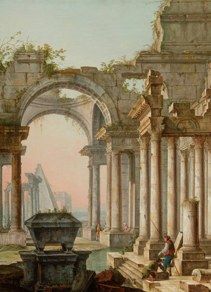 Collapse Painting - Capriccio With Ruins by Pietro Bellotti
