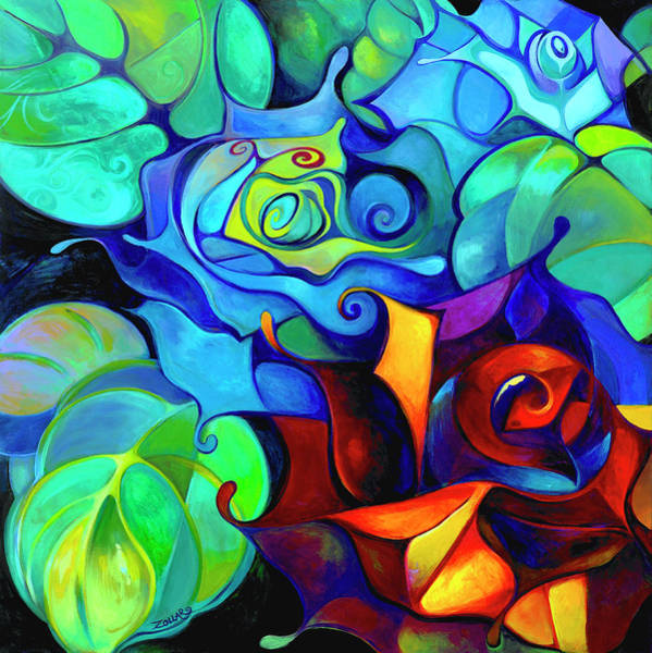 Boldness Painting - Capricorn Roses by Laura Zollar