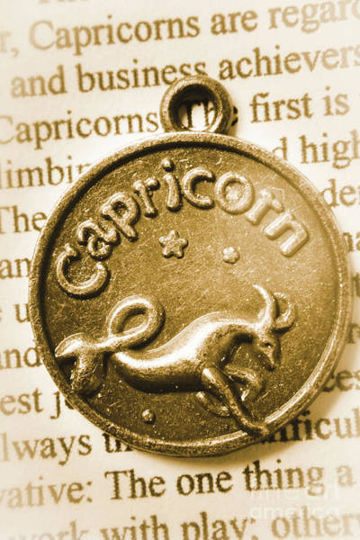 Concept Photograph - Capricorn Zodiac Lucky Charm by Jorgo Photography - Wall Art Gallery
