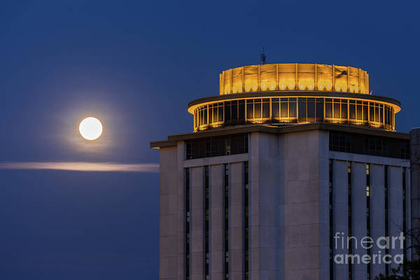 Photograph - Capstone House And Full Moon by Charles Hite