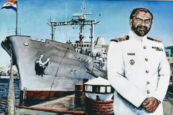 Painting - Capt Eric Green by Tim Johnson