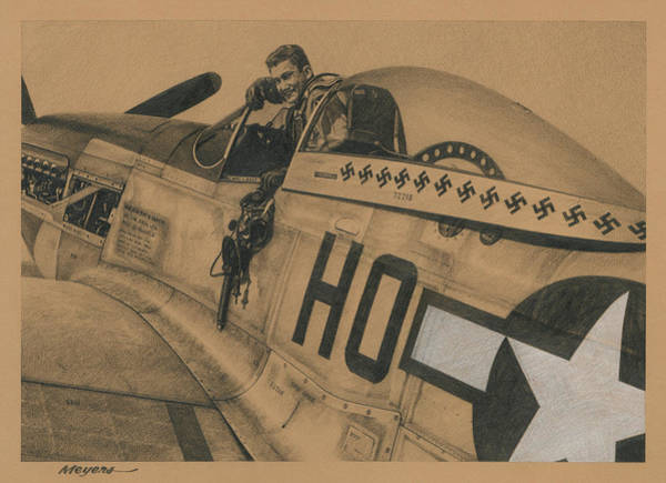 Wall Art - Drawing - Capt. Raymond H. Littge 1945 by Wade Meyers