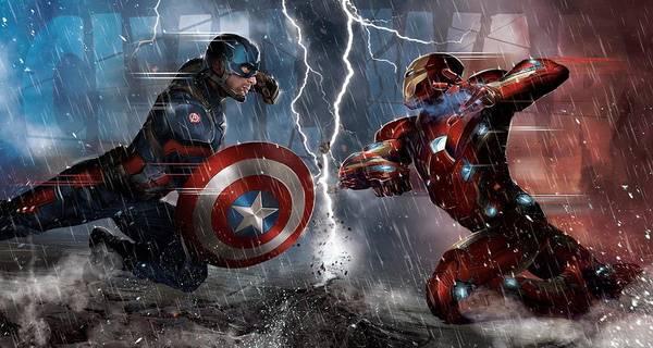 Captain America Civil War 2017 Art Print