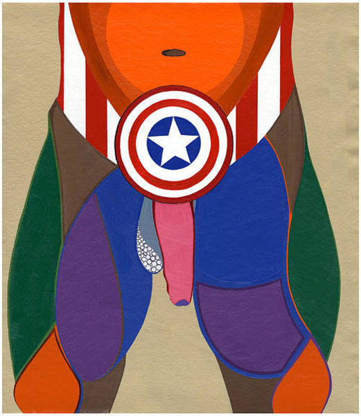 Painting - Captain America Exposed by Ruby Persson