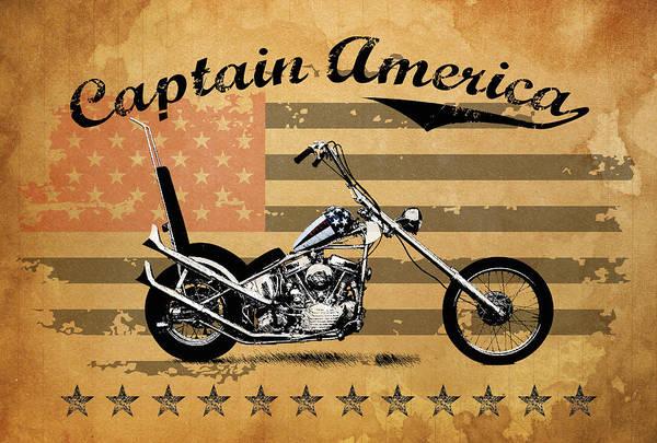 Chopper Photograph - Captain America by Mark Rogan