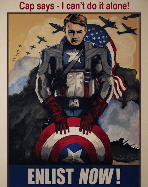 Painting - Captain America Recruiting Poster by Dale Loos Jr