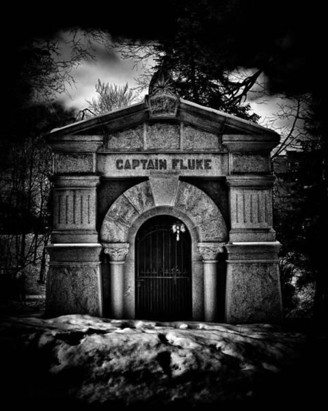 Photograph - Captain Fluke Mausoleum Mount Pleasant Cemetery Toronto Canada by Brian Carson