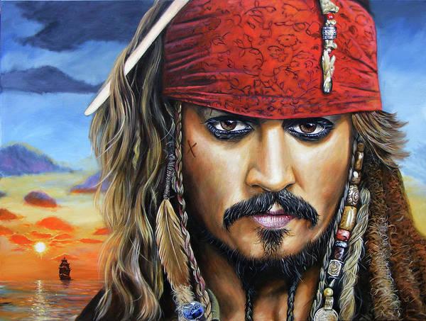 Johnny Depp Painting - Captain Jack by Arie Van der Wijst