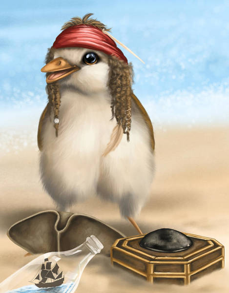 Digitalart Painting - Captain Jack Sparrow by Veronica Minozzi