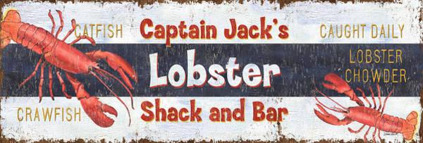 Seafood Wall Art - Painting - Captain Jack's Lobster Shack by Debbie DeWitt
