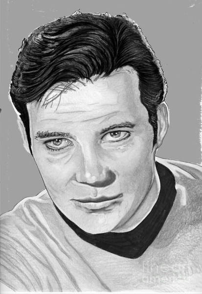 Drawing - Captain Kirk by Bill Richards