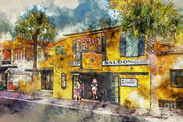 Square Mile Wall Art - Painting - Captain Tony's Saloon by Jon Neidert