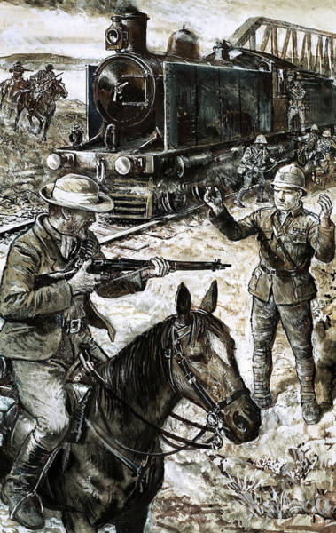 Surrendering Painting - Capture Of Winston Churchill During The Boer War by English School