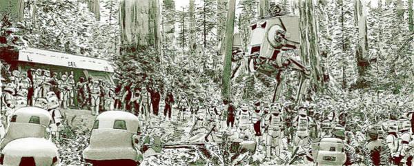 Star Wars Wall Art - Digital Art - Capture On Endor by Kurt Ramschissel
